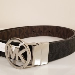 Michael Kors Reversible Logo Belt, Medium